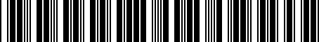 Barcode for 04443632AB