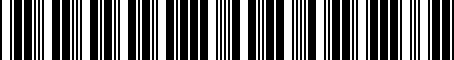 Barcode for 04443632AC