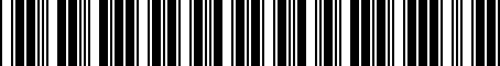 Barcode for 04889820AC