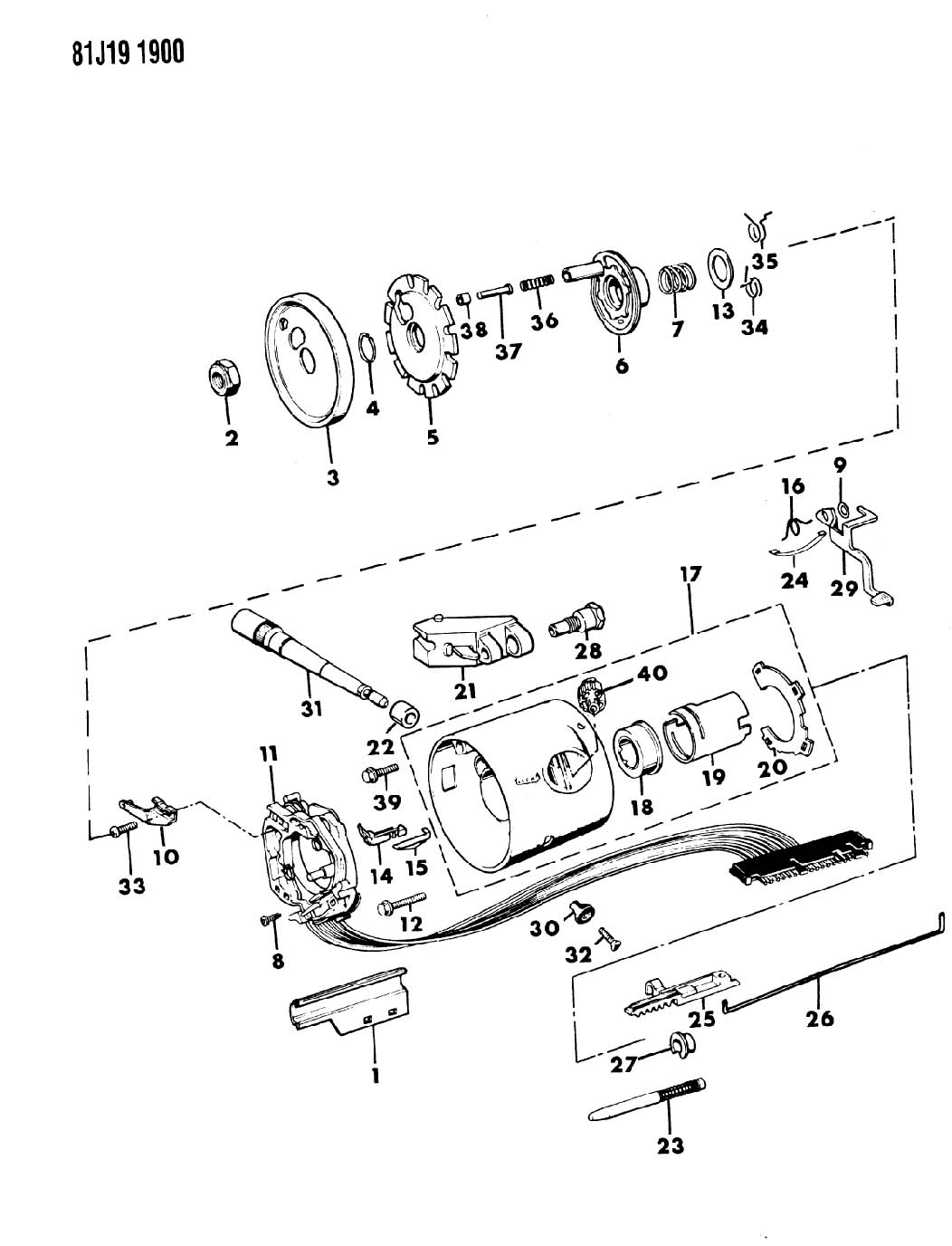 1987 jeep yj steering column diagram