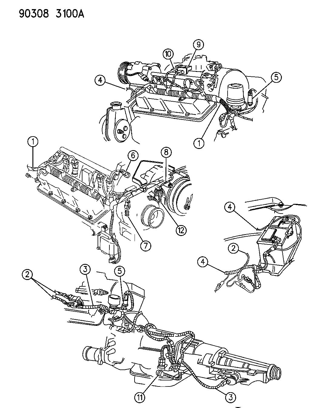 2001 chrysler 300 sensor  torque converter  coolant