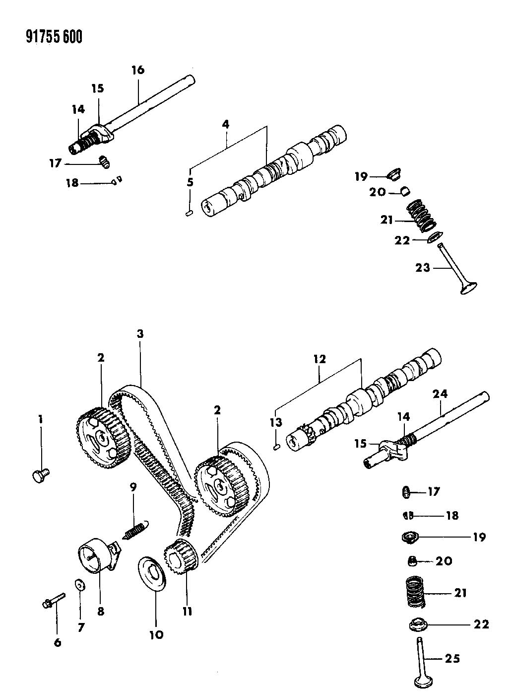 chrysler lebaron belt  timing  belt  single cam  belt