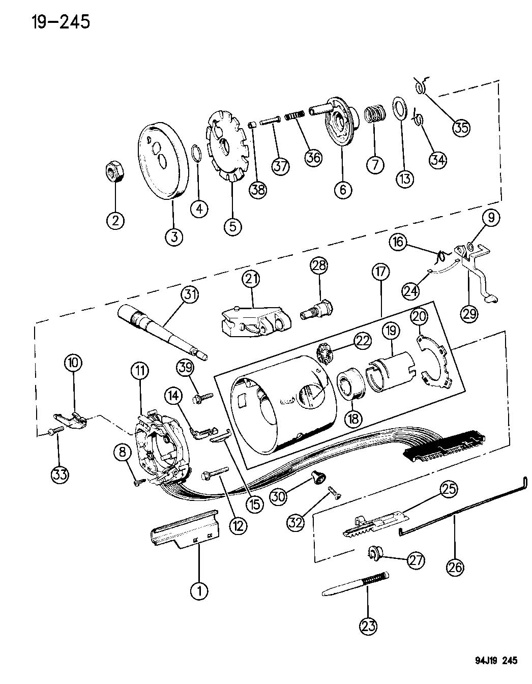 1986 chrysler steering column diagram