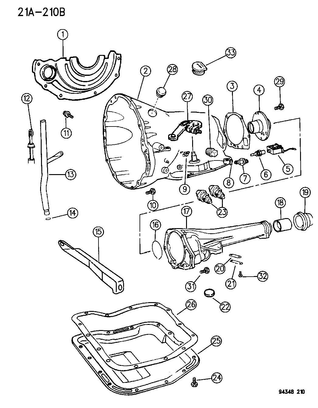 1994 Dodge Van/Wagon - Full Size Solenoid assembly ...