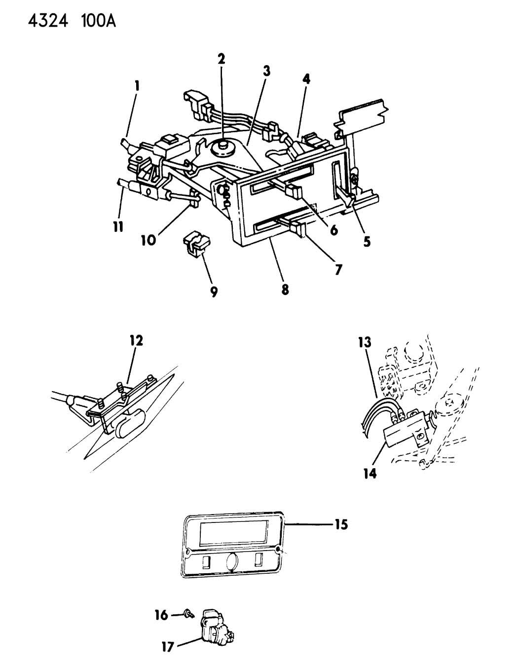 1987 dodge ram 150  250  350 base  control assy   heater