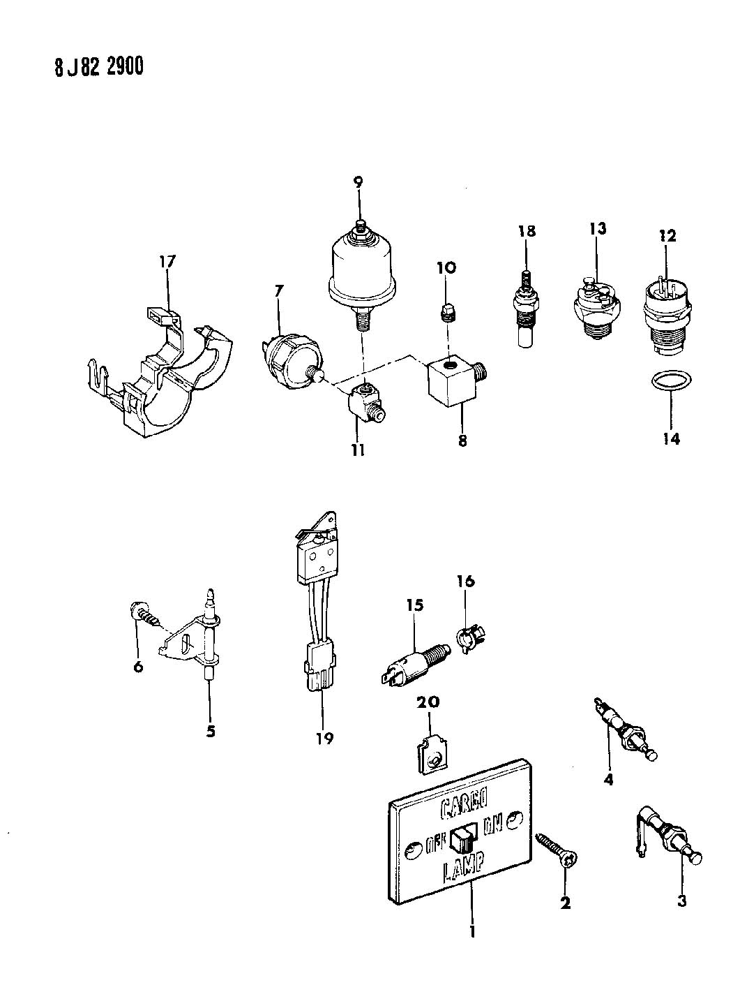 Jeep Comanche Ac Diagram Circuit Wiring And Hub 1990 1988 Cherokee Sender Oil Pressure 89