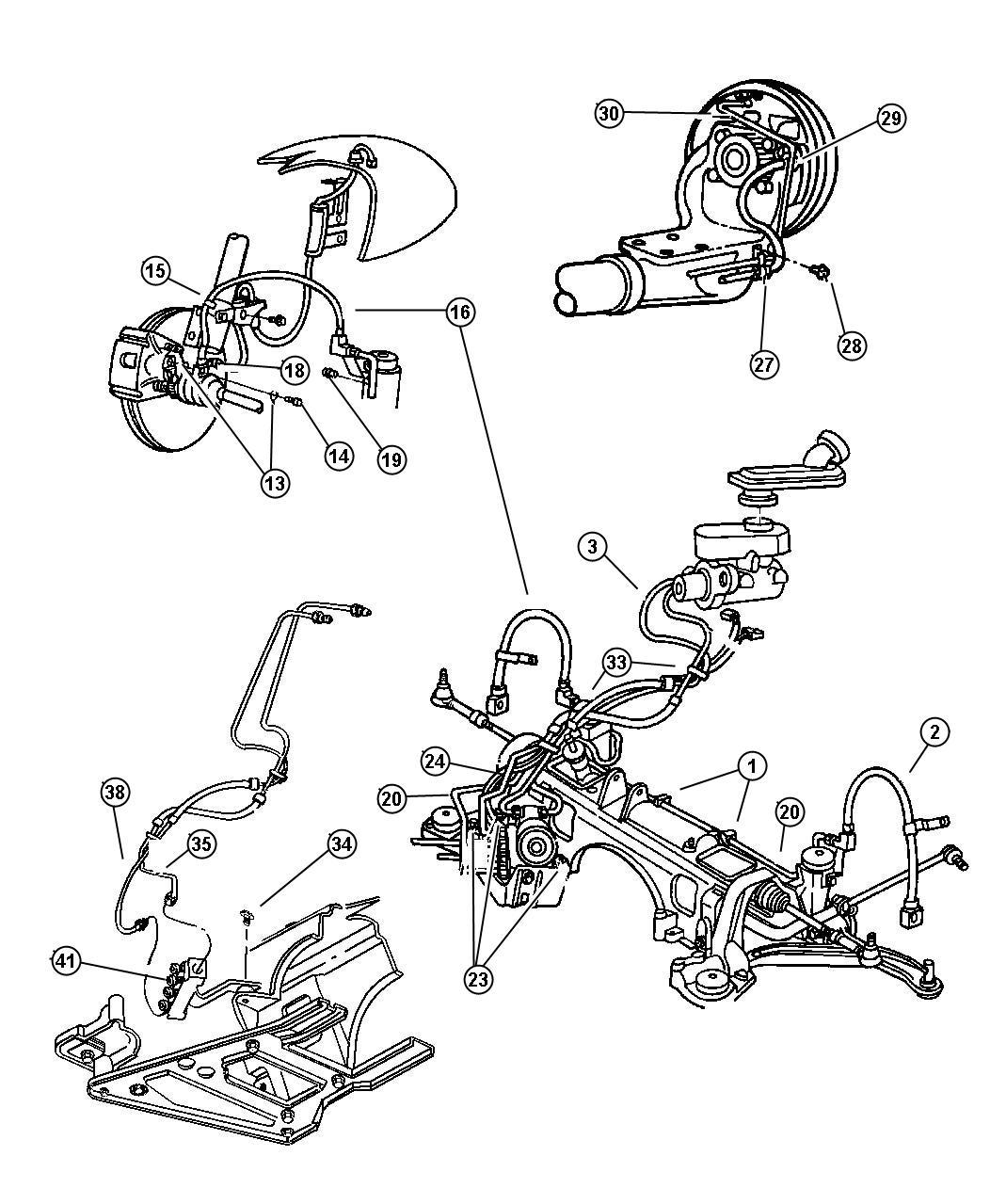 1997 Dodge Grand Caravan Tube  Brake Master Cylinder
