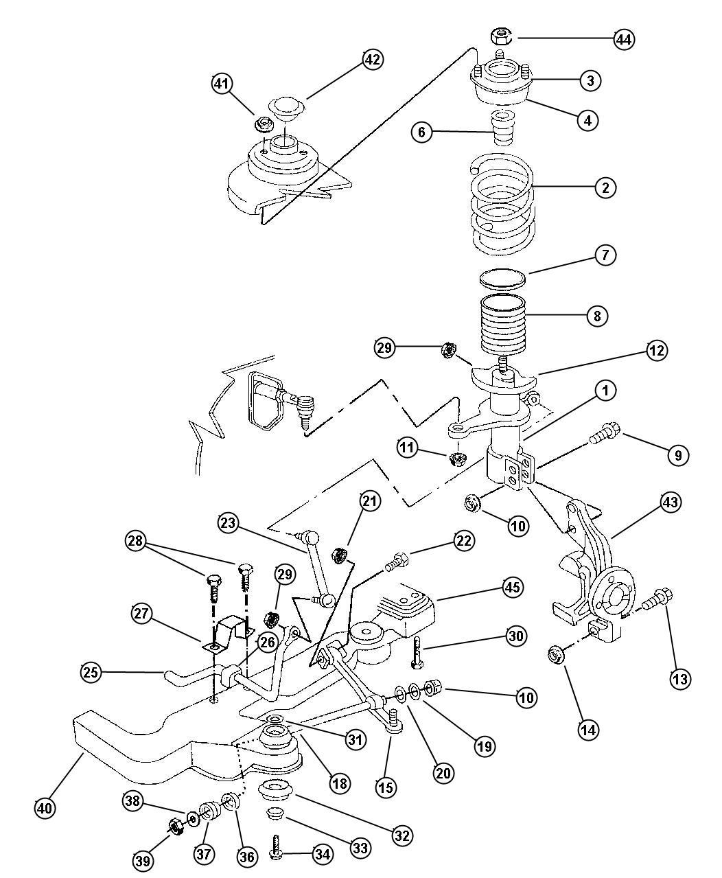 2010 Dodge Ram 2500 Strut  Front Suspension  Tension
