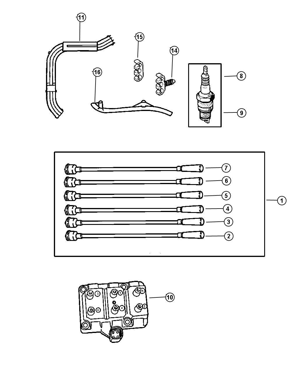 Chrysler Concorde Coil. Ignition. 6-cylinder. Engine ...