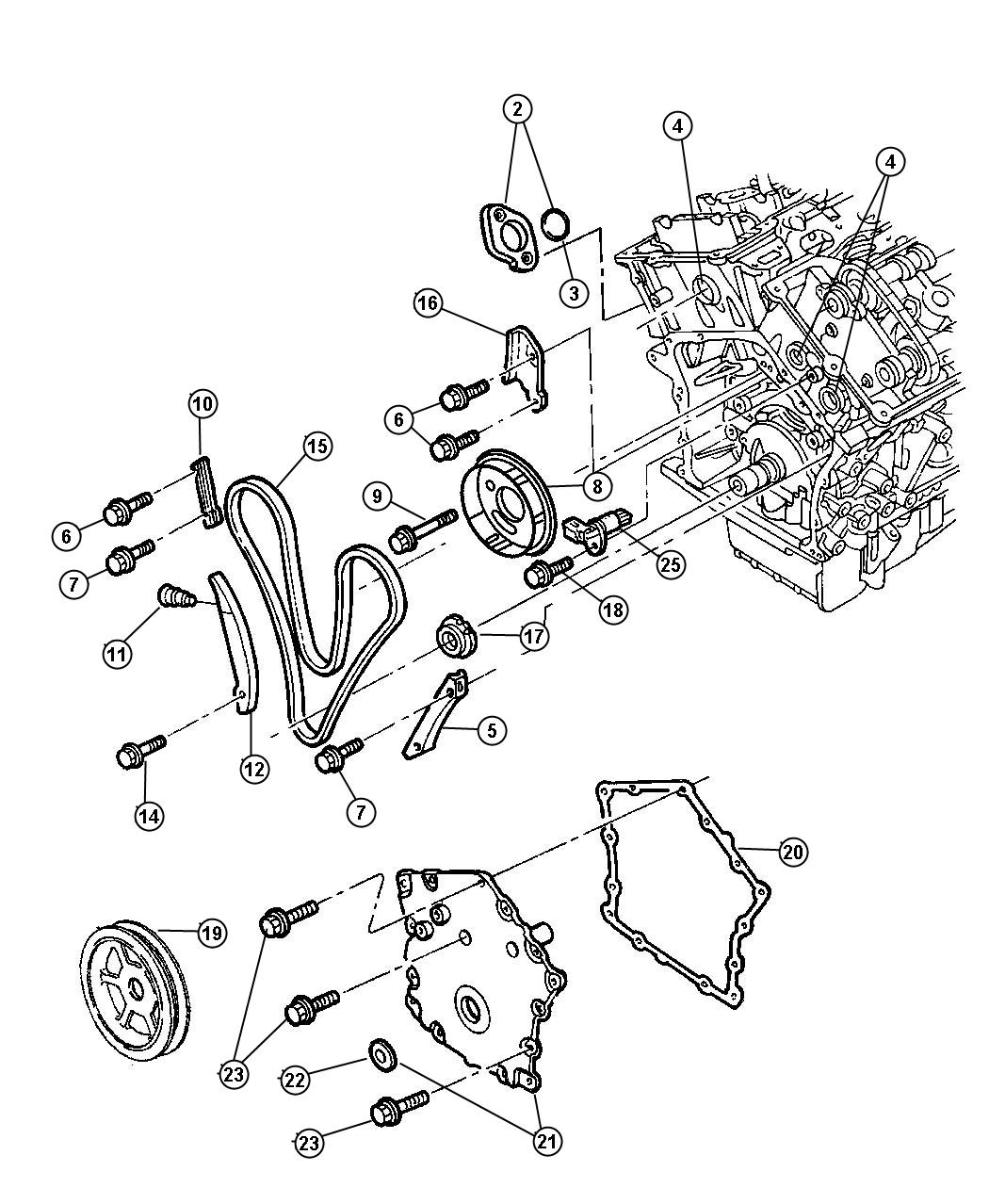 Chrysler Lhs O Ring  Tensioner  Timing  Engine  Chain