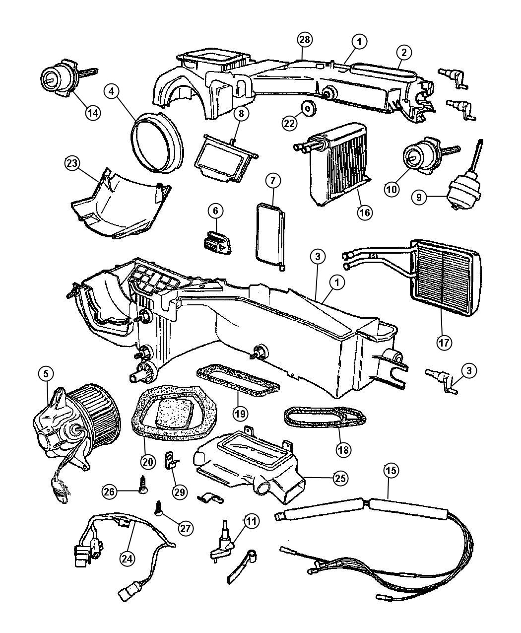 2002 jeep wrangler actuator  defroster  vacuum  defrost