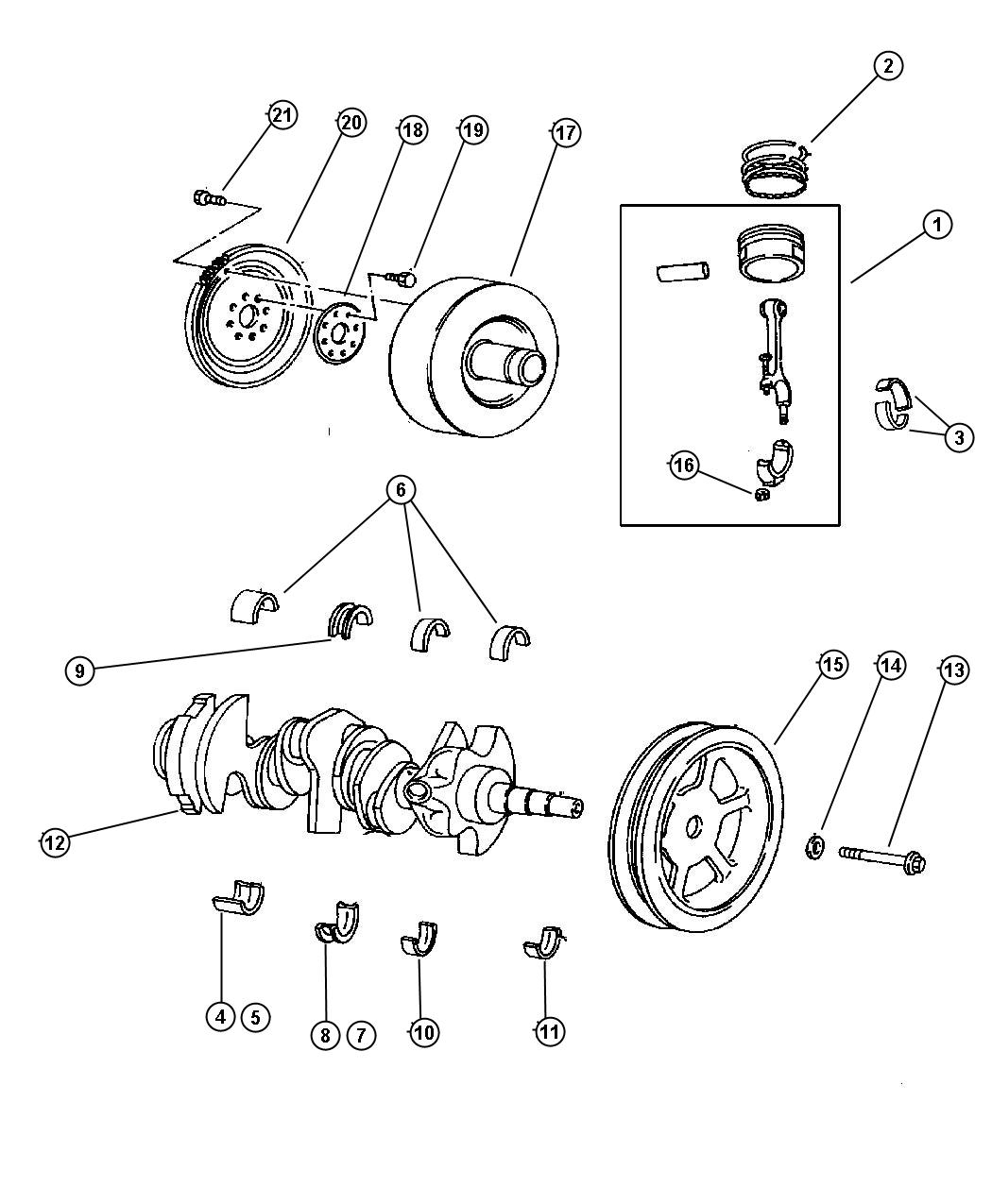 Dodge Grand Caravan Used For  Piston Pin And Rod  Engine