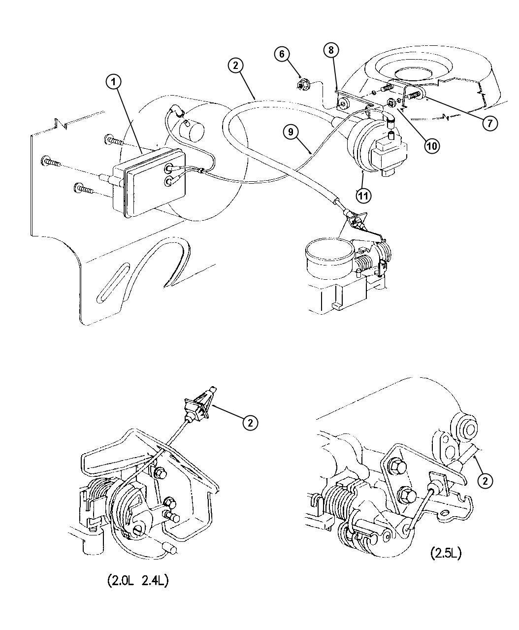 dodge ram 3500 spacer  speed control servo  engine  body