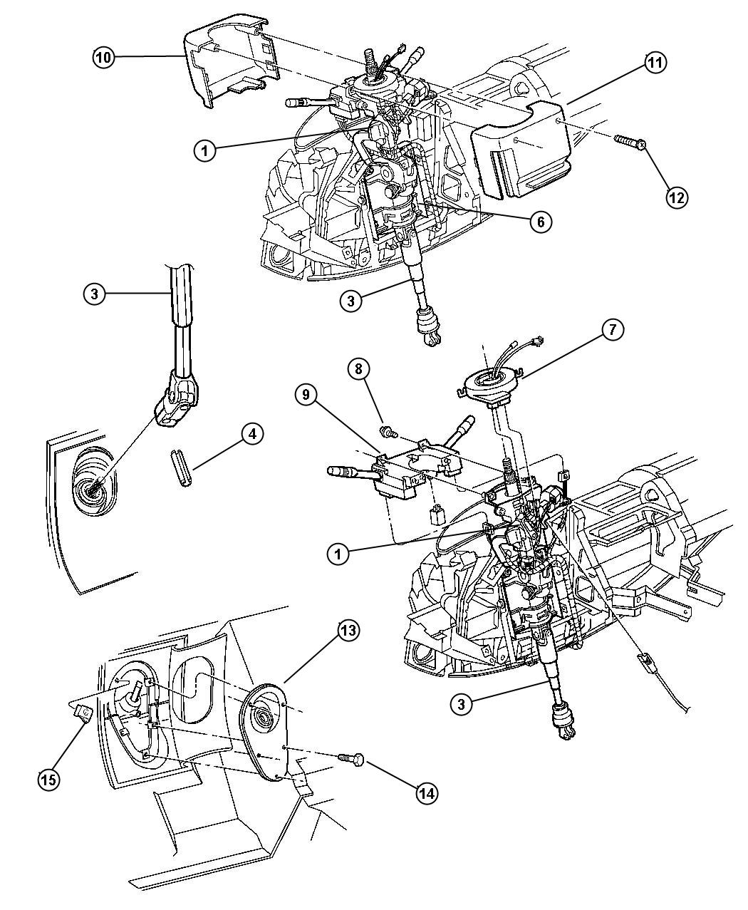 2008 dodge durango bearing  upper  steering column shaft