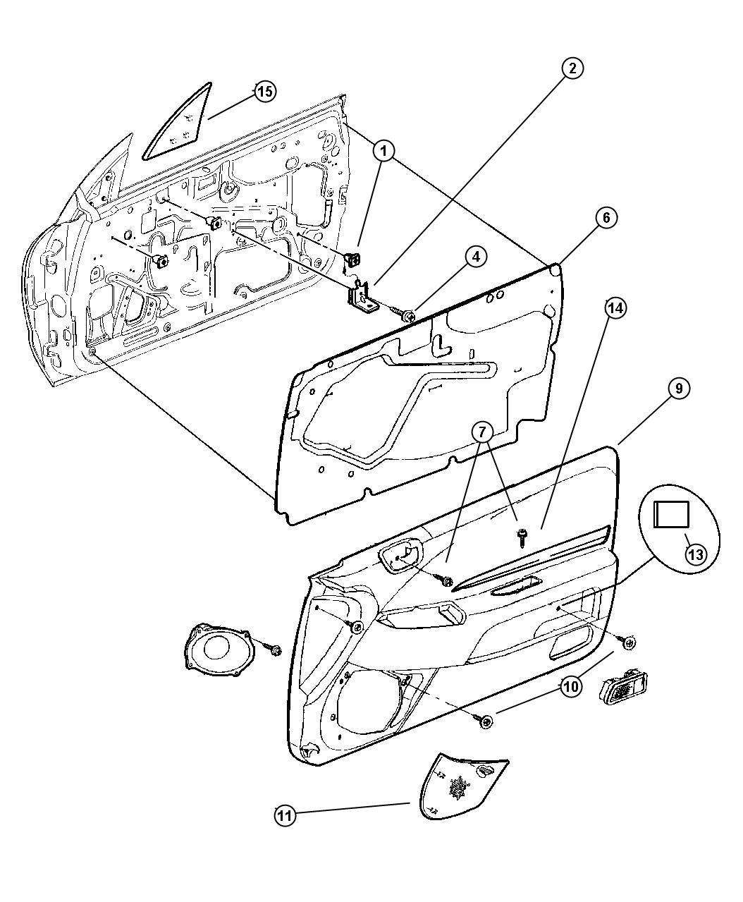1996 chrysler sebring grille  right  speaker  trim    o0