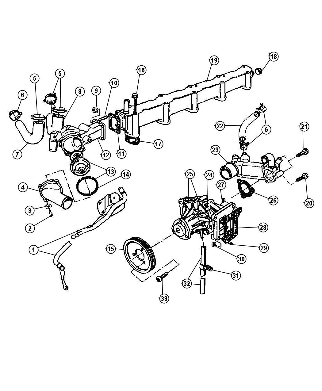 Dodge Ram 1500  Hex  Pump, water, bolt