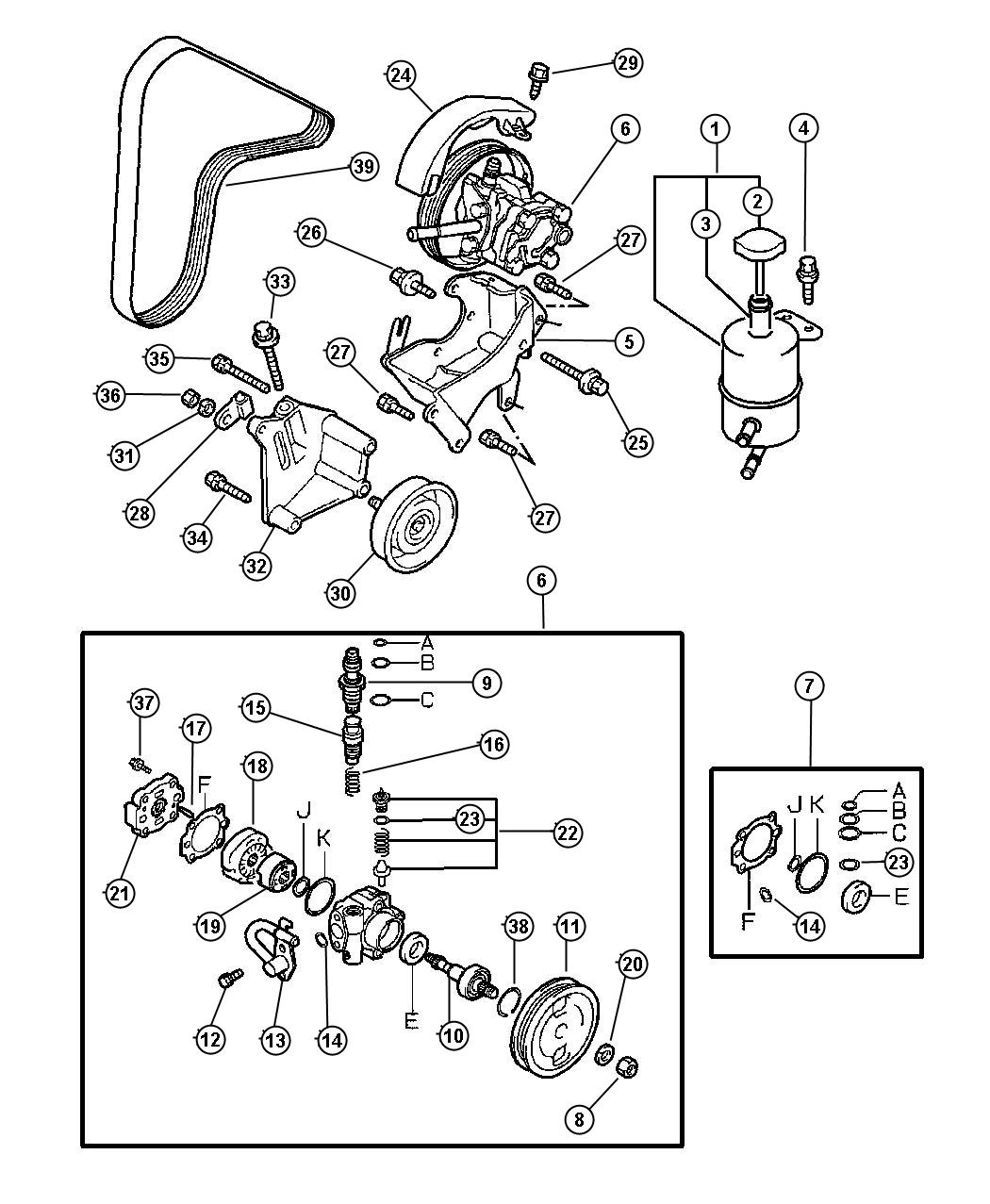2000 Dodge Avenger Screw  Steering