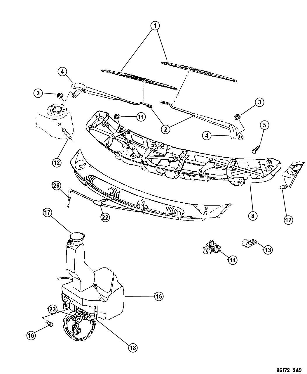 1999 Dodge Grand Caravan Nozzle Washer Windshield Body Wiring Diagram