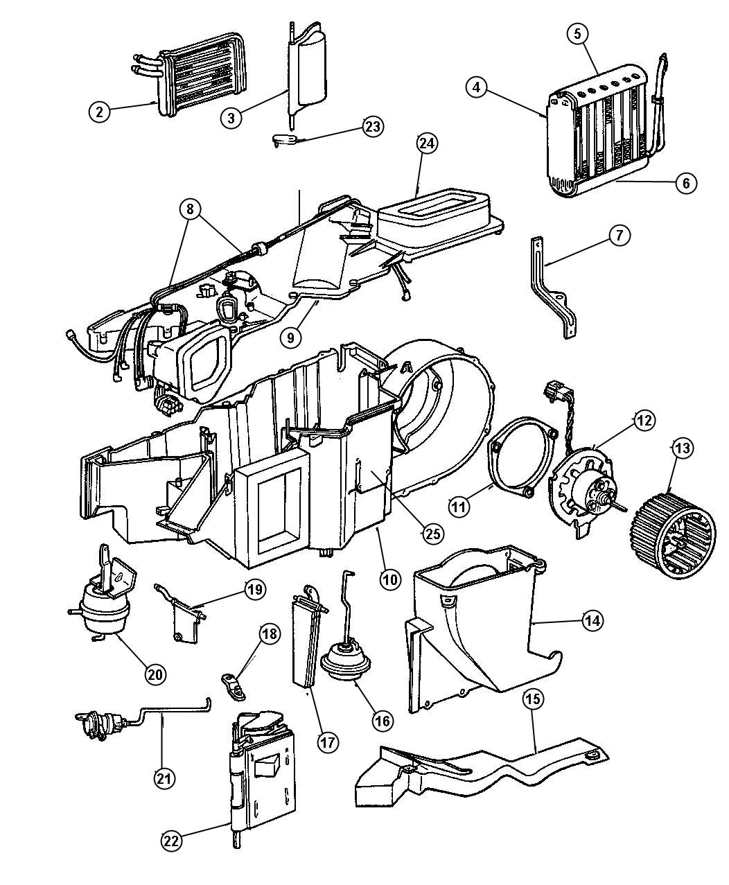 heater core 1999 plymouth voyager diagrams
