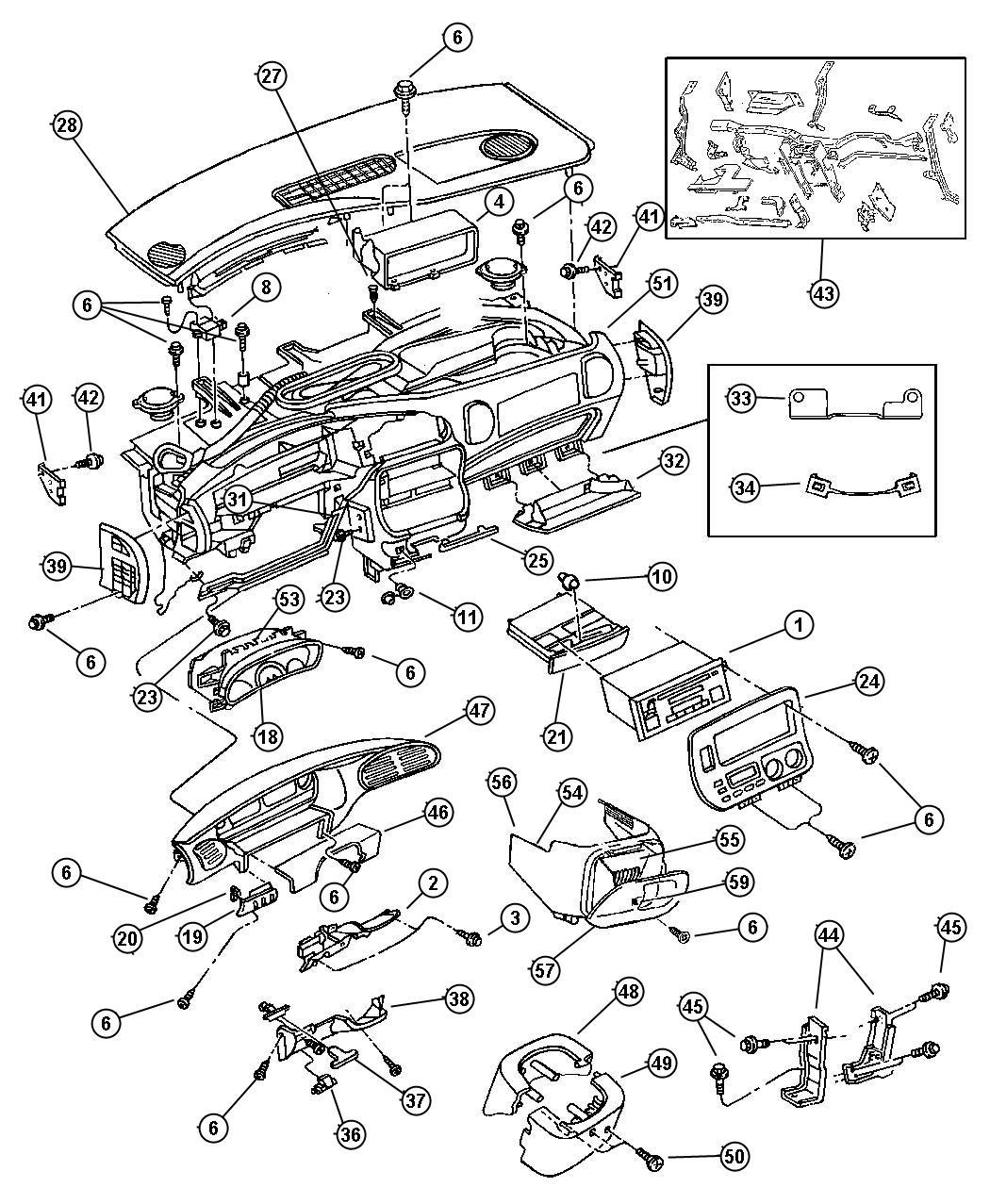 2003 Dodge Grand Caravan Handle  Parking Brake  Trim   All