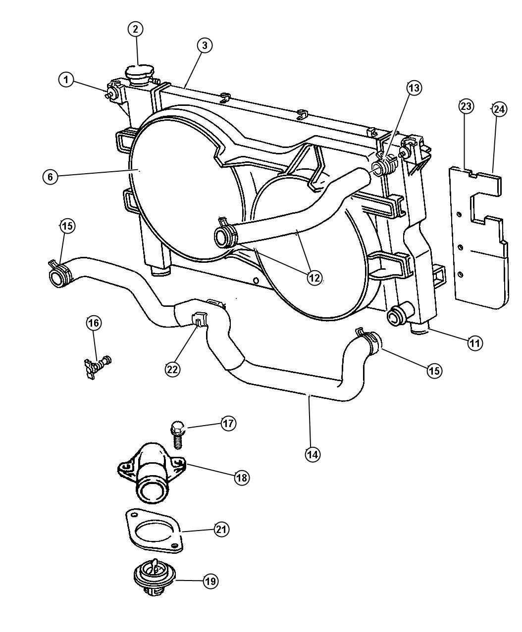 Chrysler Town  U0026 Country Isolator  Radiator  Lower
