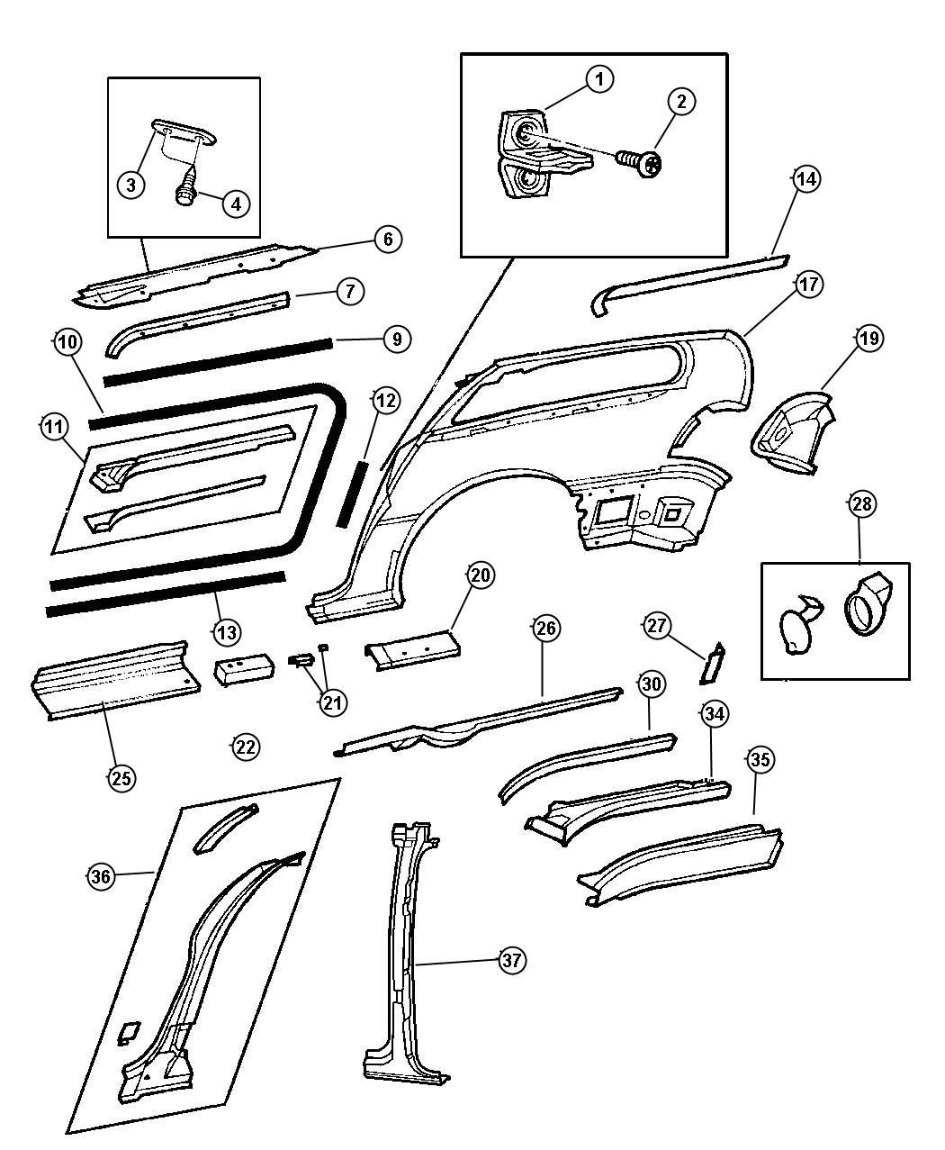 How To Remove Sliding Door Panel On Dodge Caravan: Dodge Caravan Weatherstrip. Right. Sliding Door