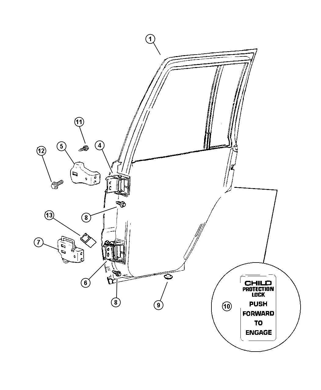 2003 Jeep Grand Cherokee Door Diagram  Jeep Grand Cherokee Hinge Door Half Upper Used For
