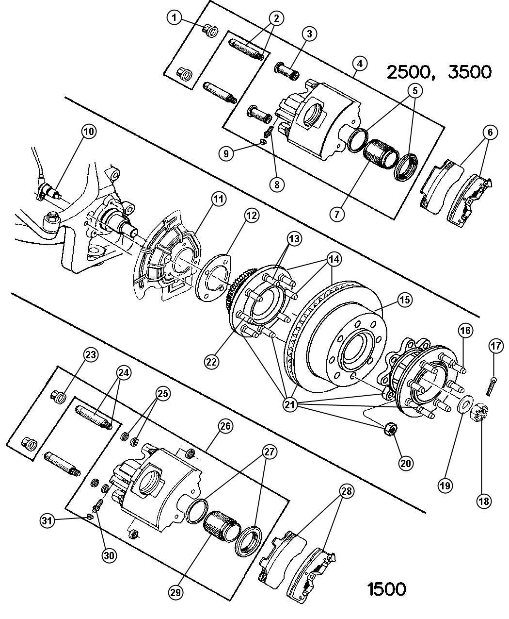 1998 dodge ram 1500 shield  right or left  brake   bgk