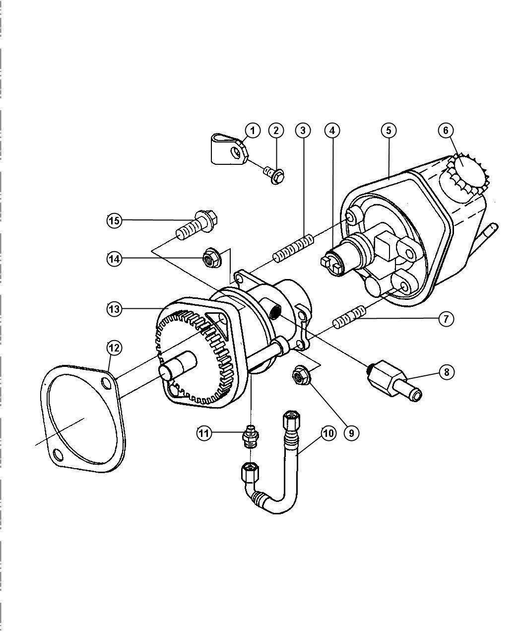 1998 Dodge Ram 3500 Gasket  Hydraulic Pump  Etb  Etc