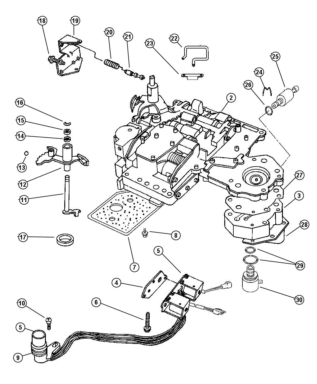 1996 Dodge Solenoid  Transmission Overdrive  Prong  Obgj  Cutomatic