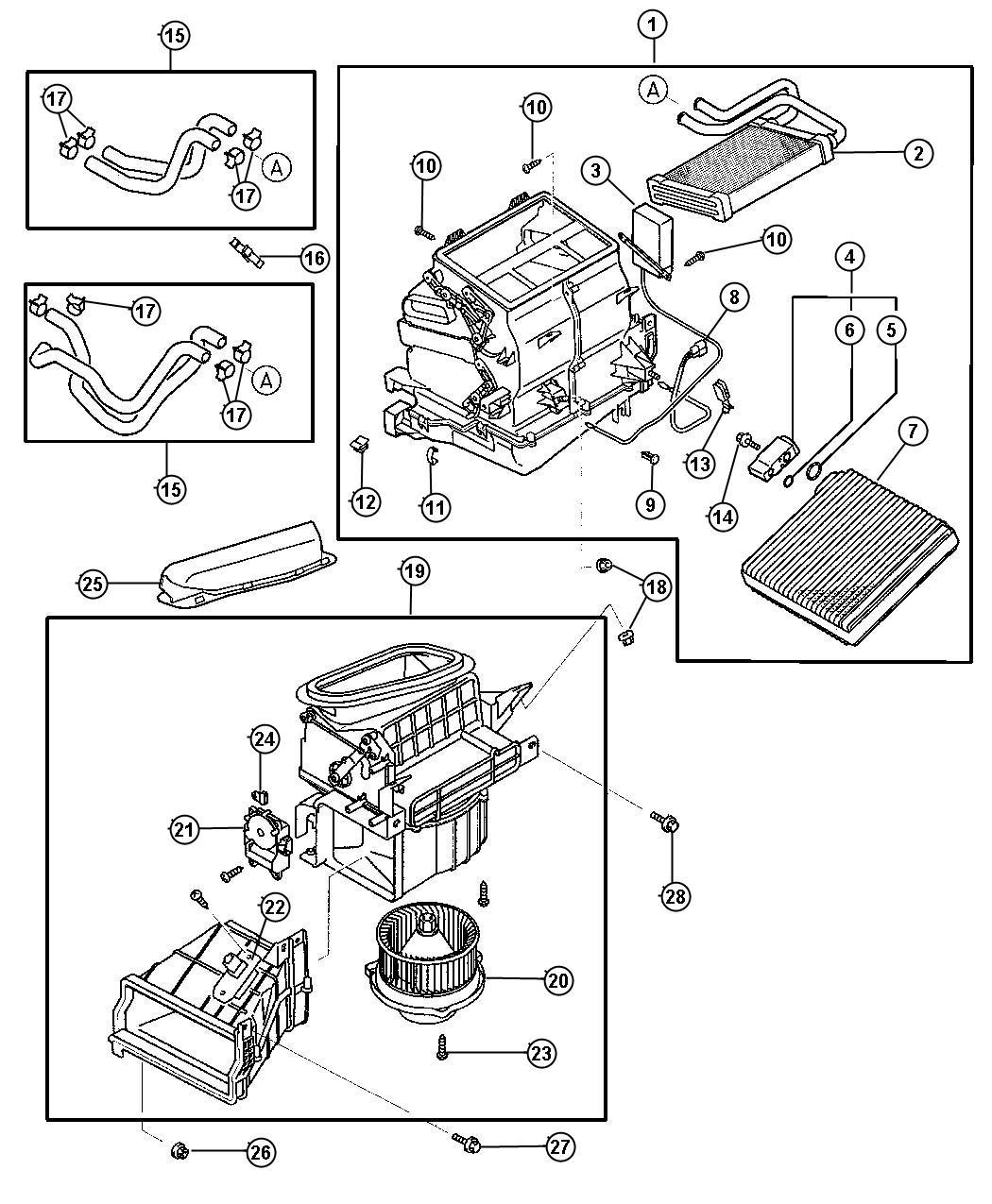 2001 Dodge Stratus Screw  A  C Housing  M8x16  Air