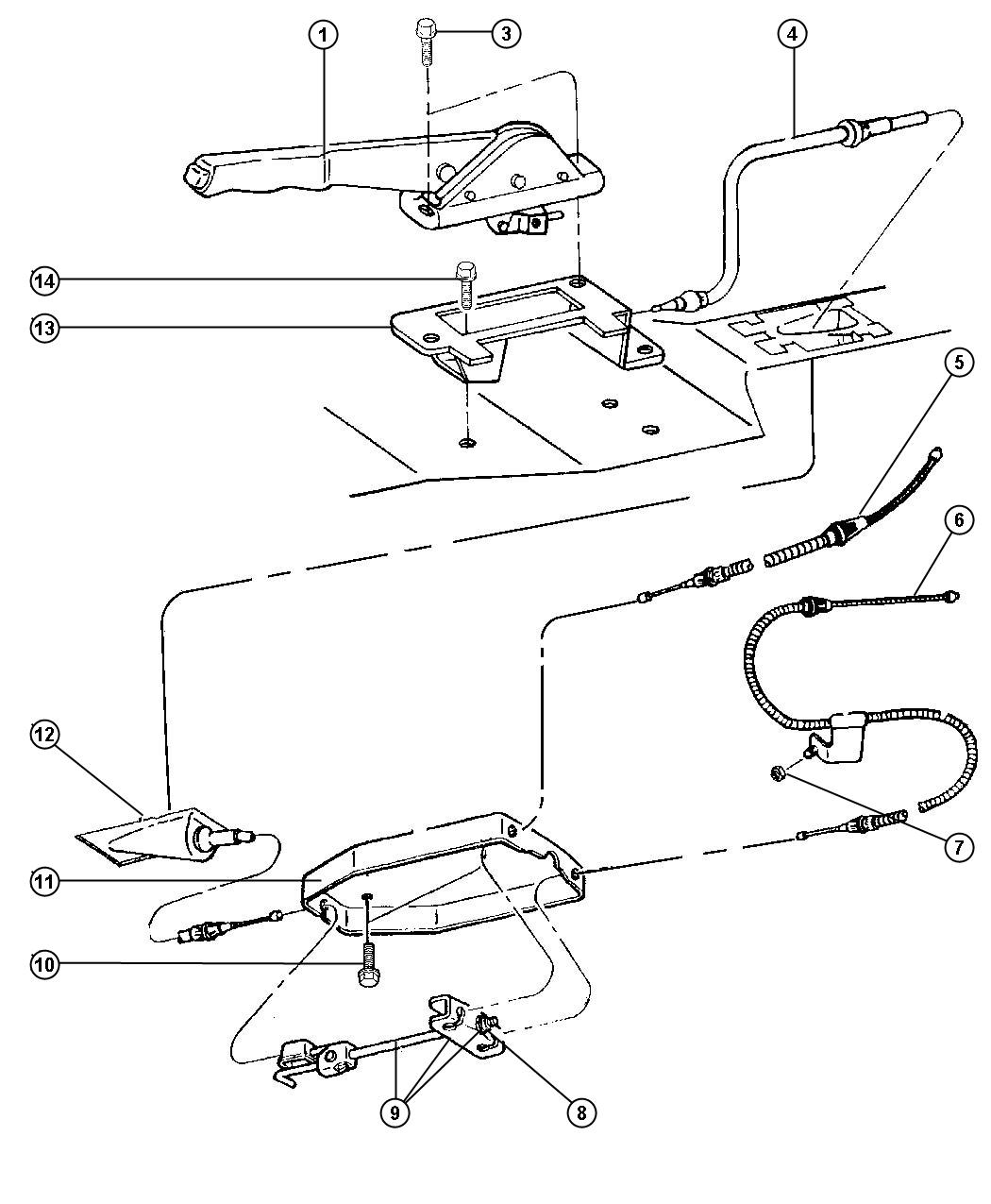 1997 jeep grand cherokee lever  park brake  parking brake