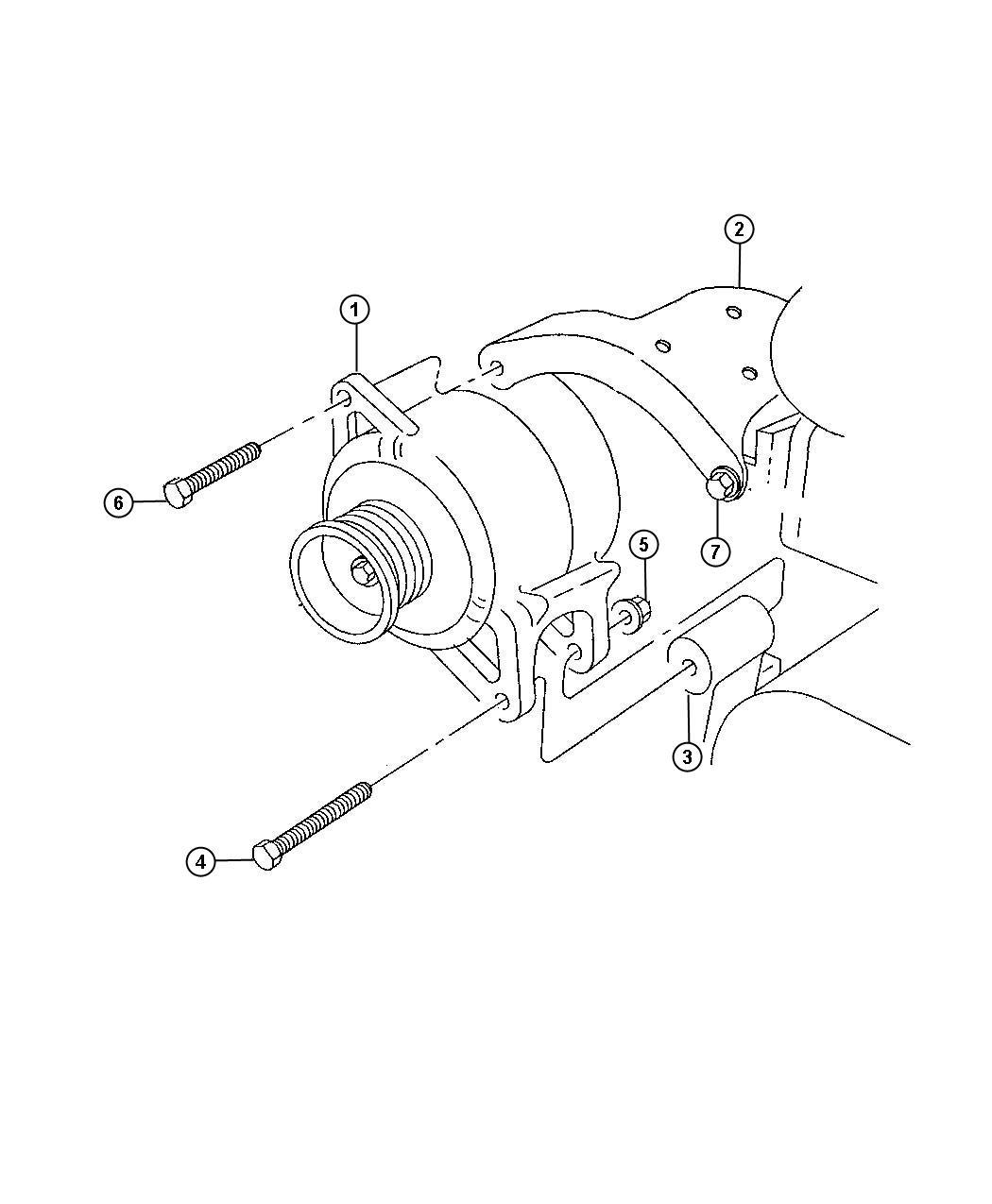 1996 dodge generator  engine   120 amp alternator    alternator - 136 amp