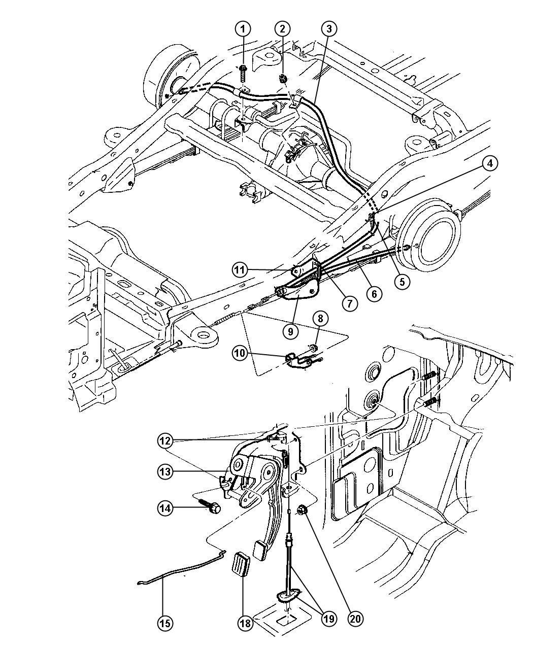 2013 Chrysler 200 Lever  Lever Assembly  Park Brake