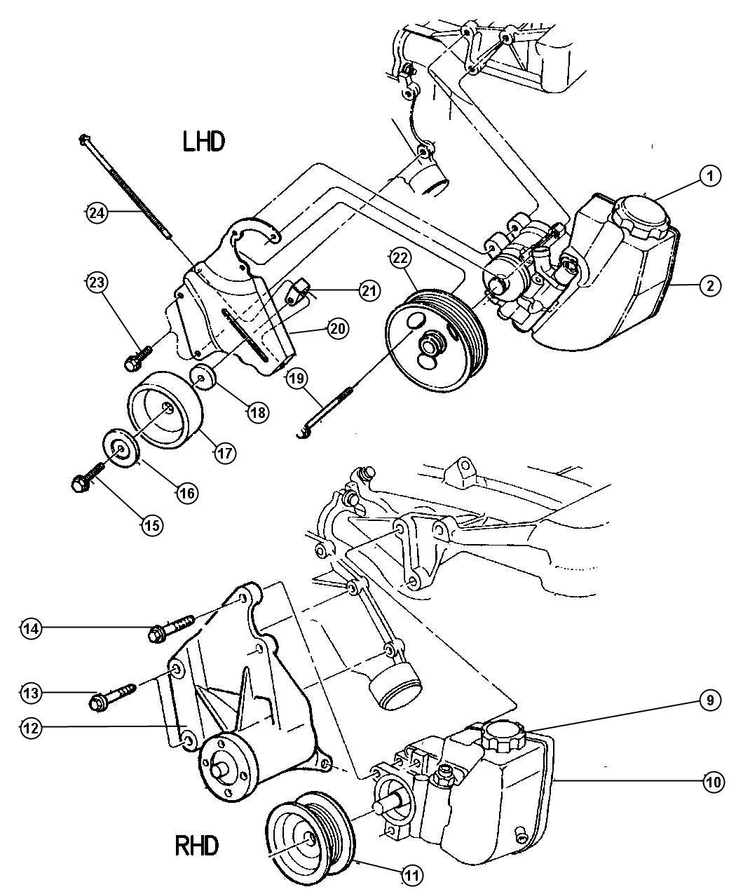 2001 jeep cherokee seal  power steering pump  fits between