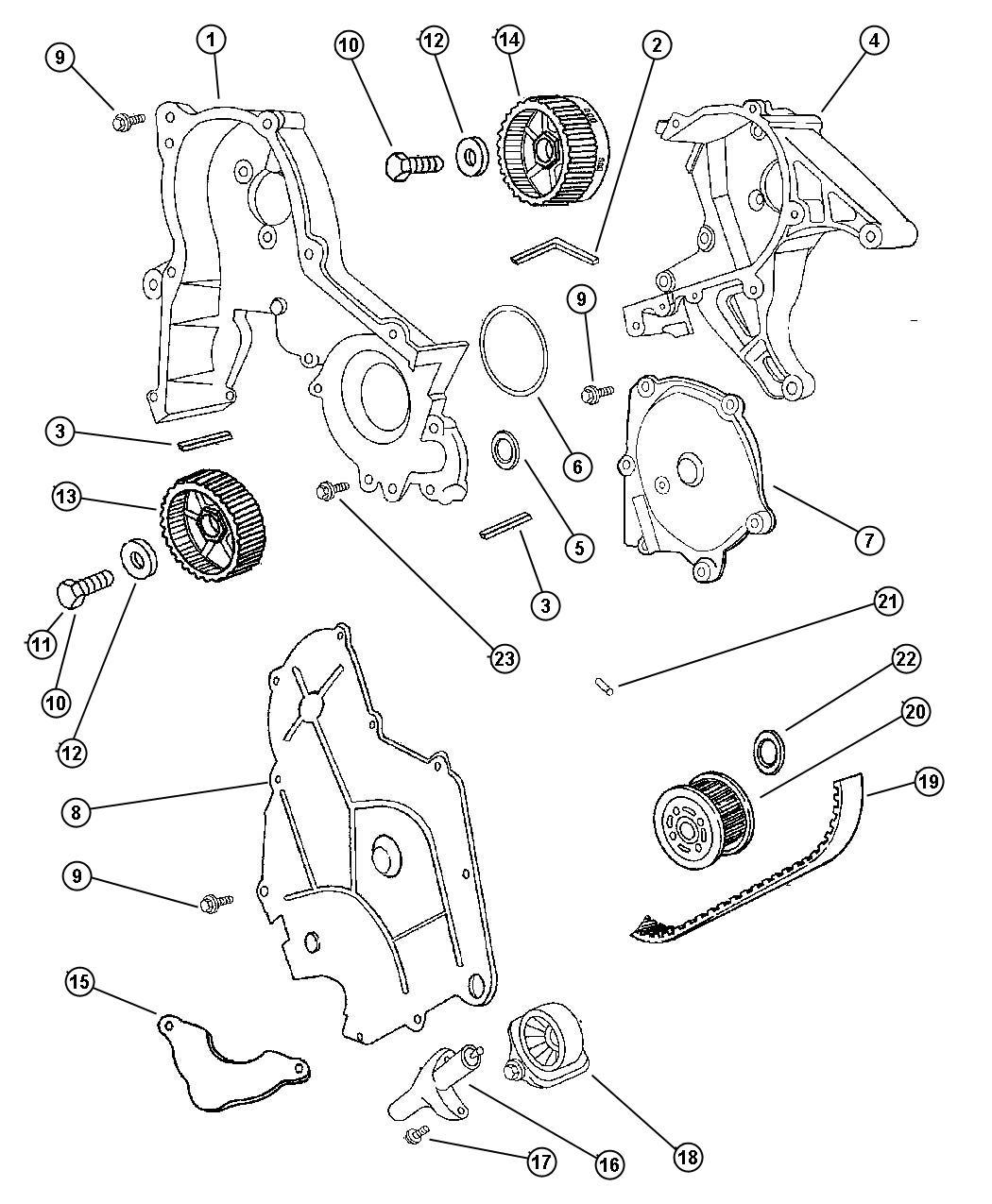 Chrysler Lhs Belt  Timing  Engine  Mpi  Output