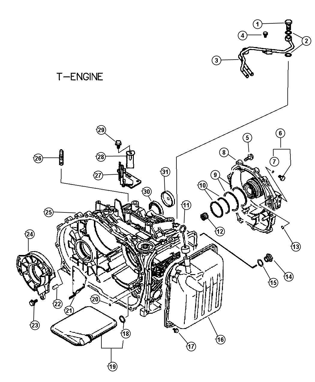 2005 chrysler sebring filter  valve body  cylinder  case