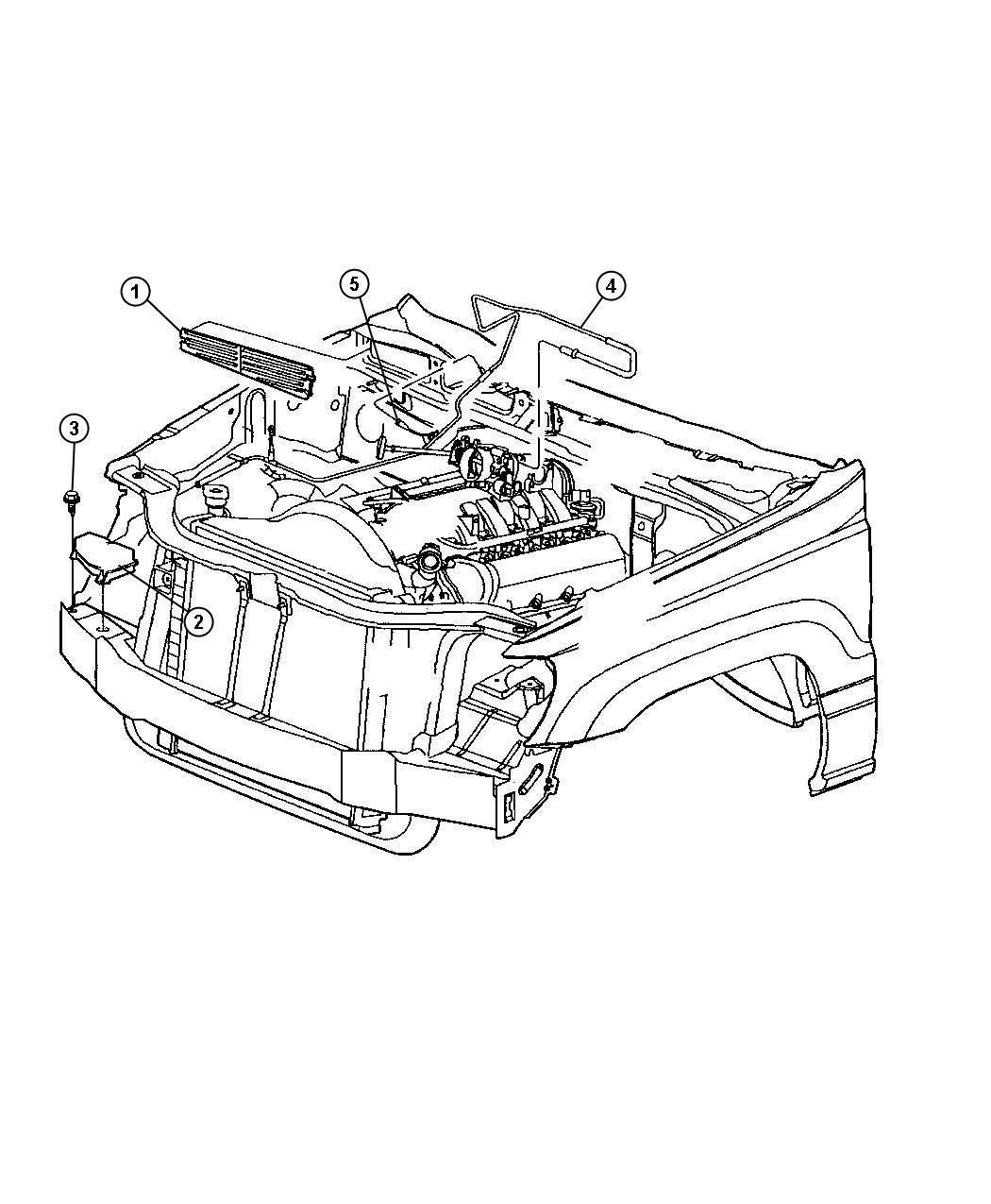 2001 Jeep Grand Cherokee Reservoir  Vacuum  Steering  Controls  Engine