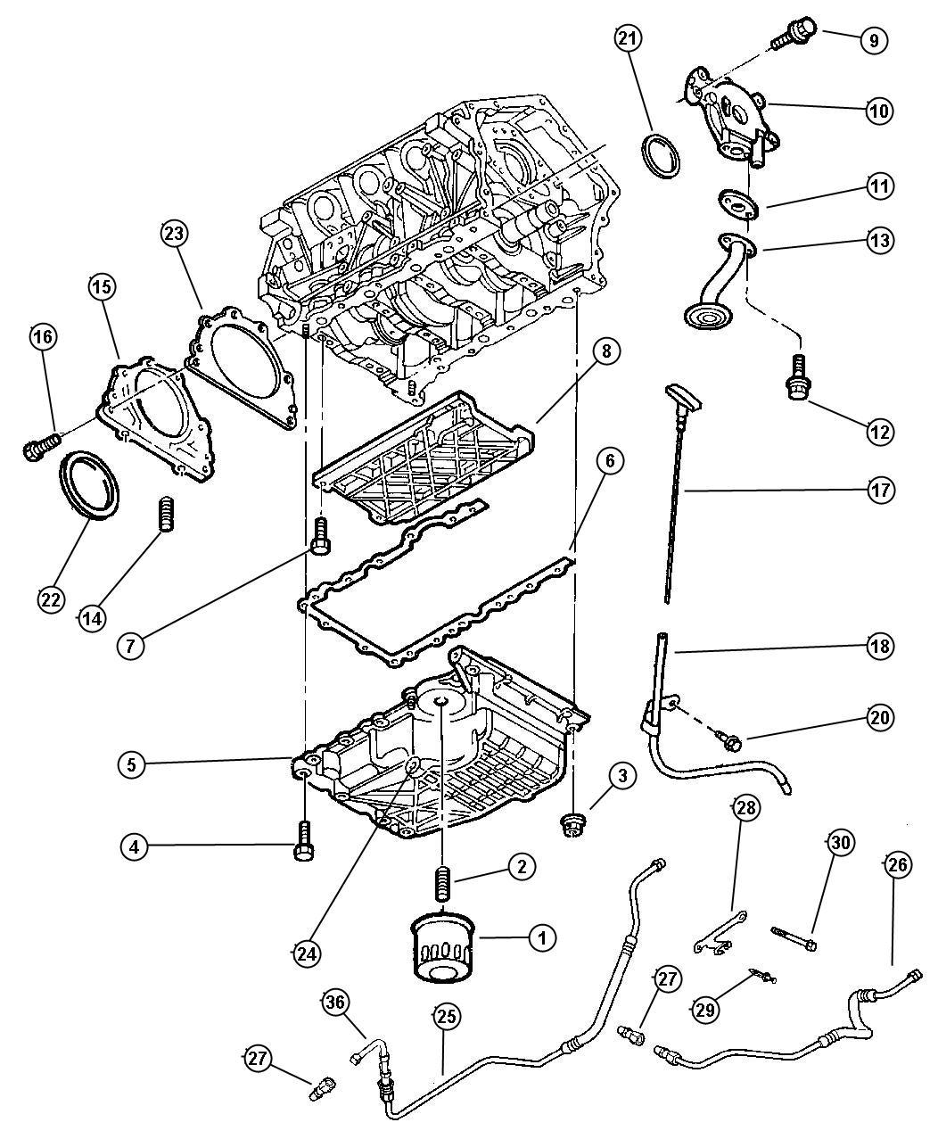Chrysler Lhs Filter  Engine Oil  Magneti Marelli   Emissions - Mexico    Emissions