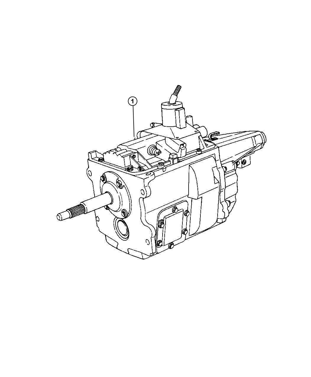 dodge avenger trans  5 speed  transmission  manual