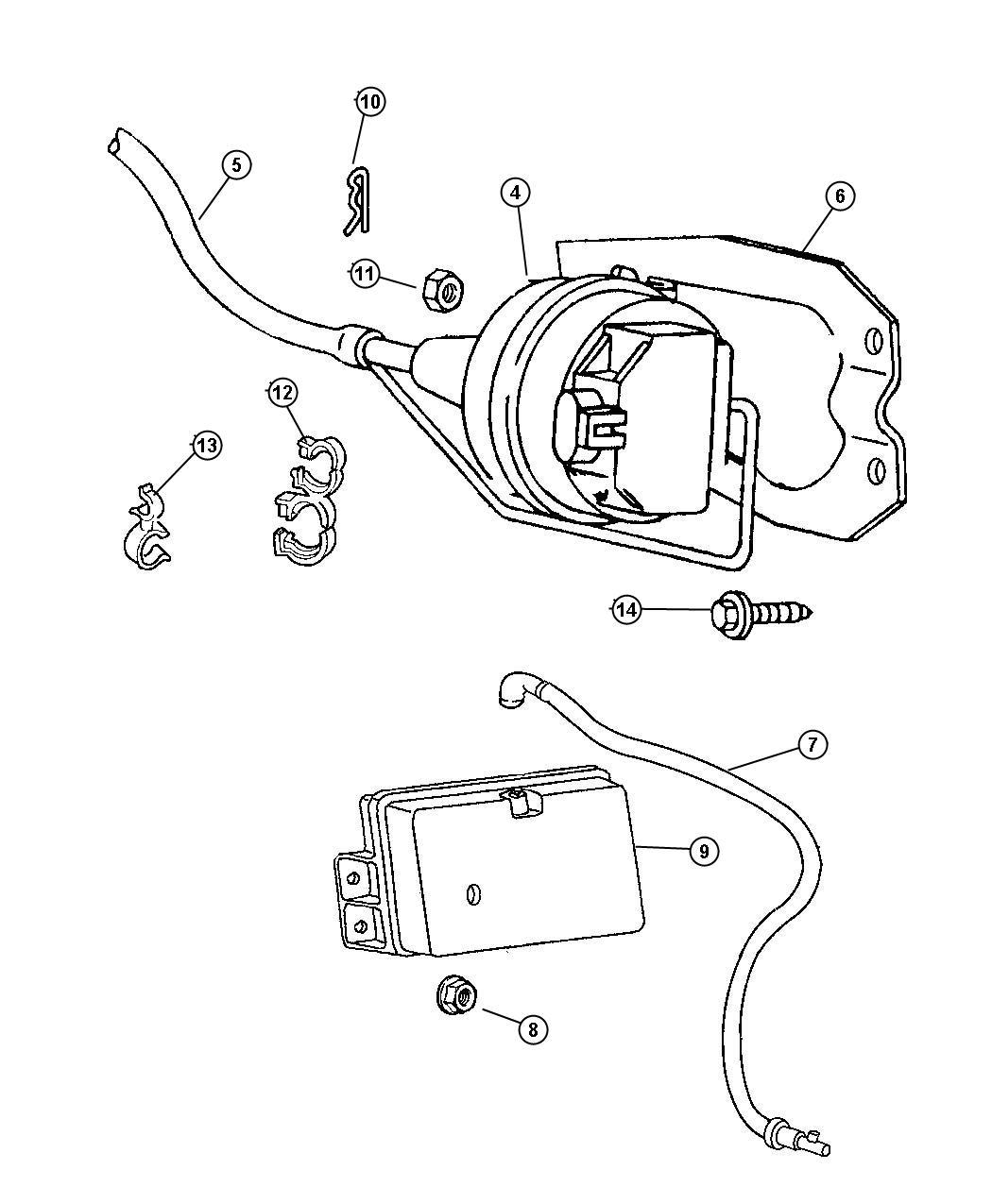 Dodge Ram 1500 Reservoir. Vacuum. Cruise control ...