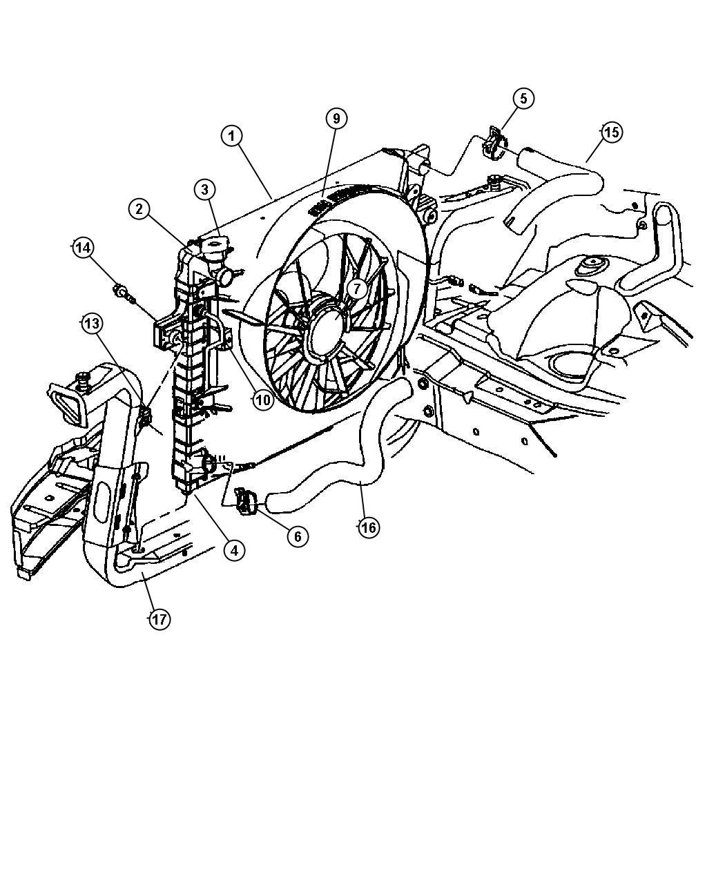jeep grand cherokee crossmember  radiator  front lower