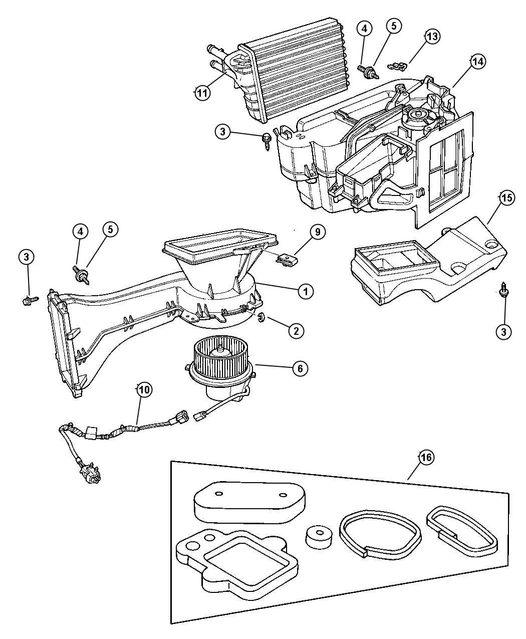 2008 chrysler pt cruiser resistor  blower motor  after 11