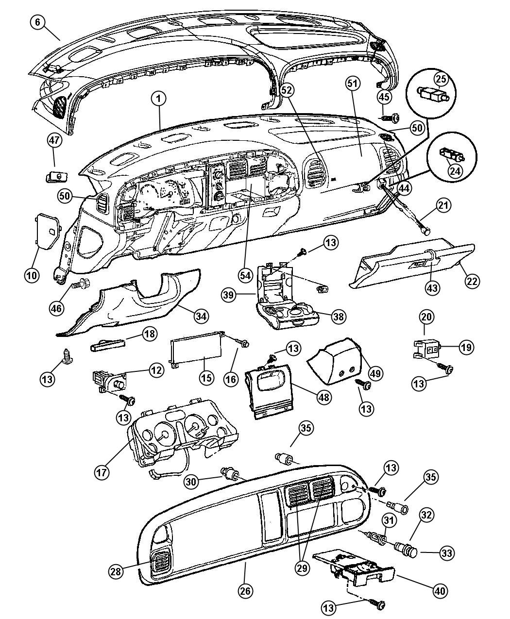 Dodge Ram 3500 Nut  Plastic Snap Panel To Retainer