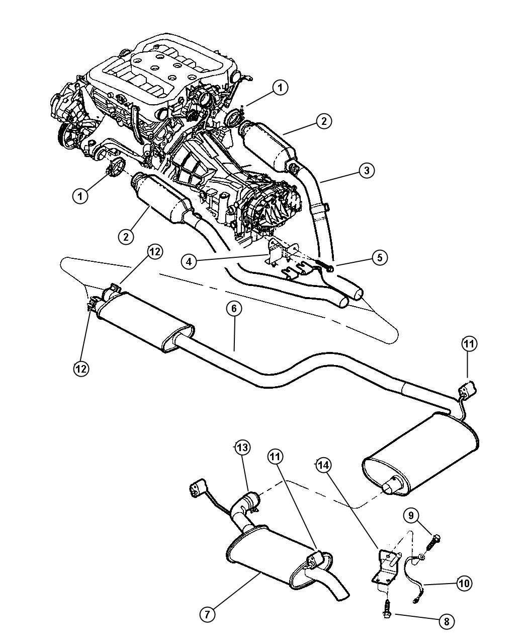 Chrysler Concorde Clamp. Exhaust Manifold. Exhaust