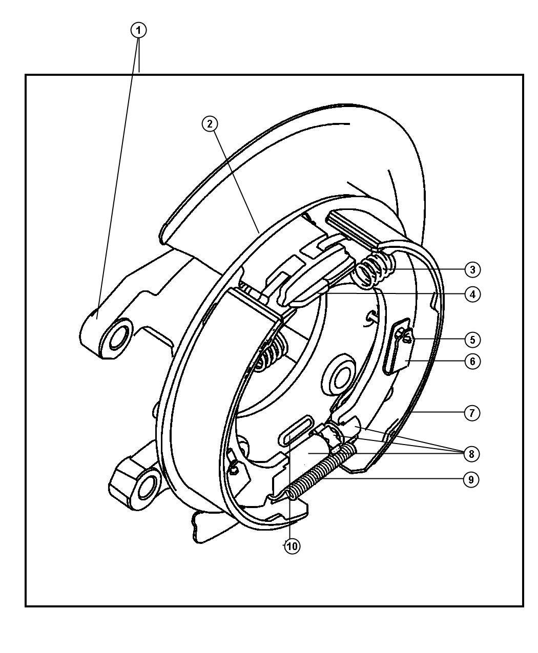 2001 dodge ram 1500 adapter  parking brake  complete