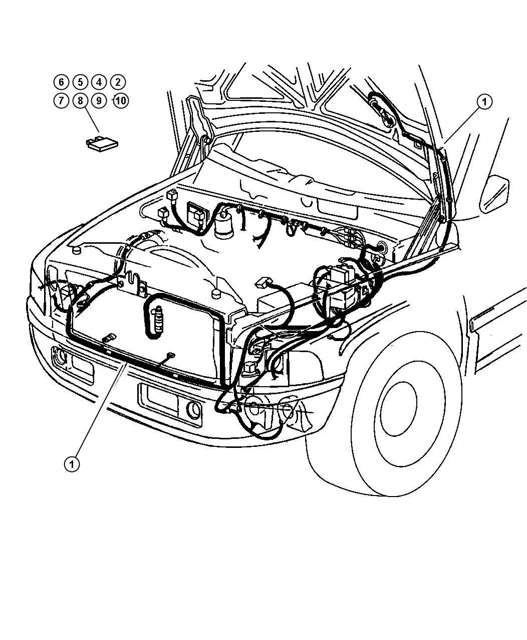 Dodge Ram 2500 Fuse  Mini  10 Amp  Red  Air Bag  Airbag