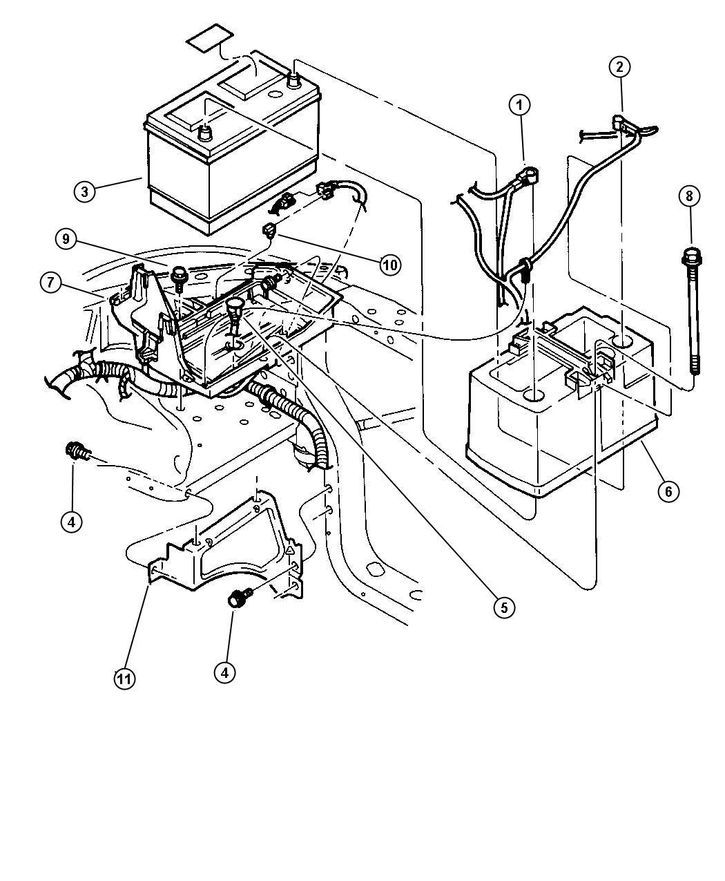 2007 Chrysler Sebring Battery. Storage. [bce], 600 Cca