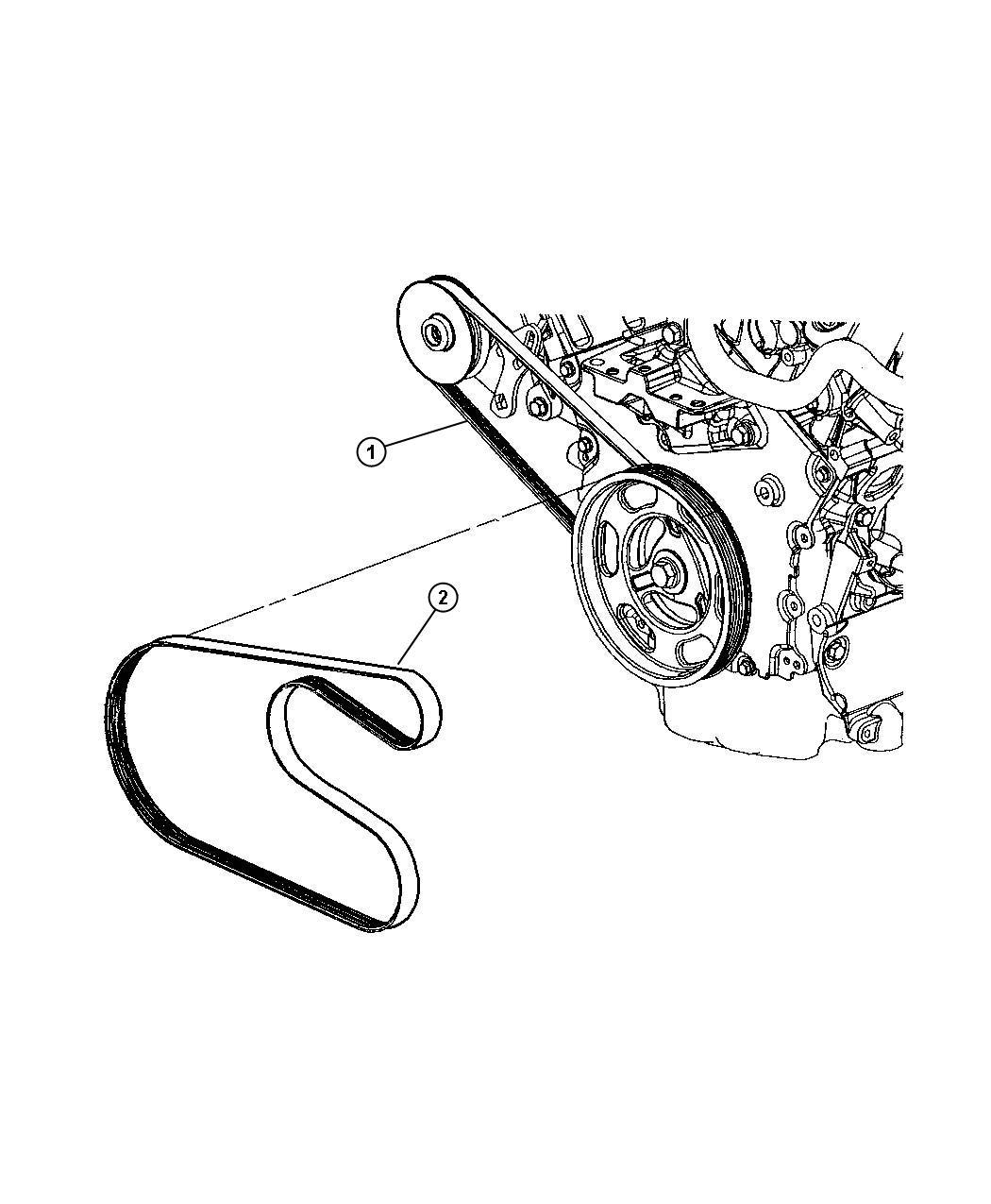 2002 Chrysler Sebring Belt  Power Steering  Rack  Feel