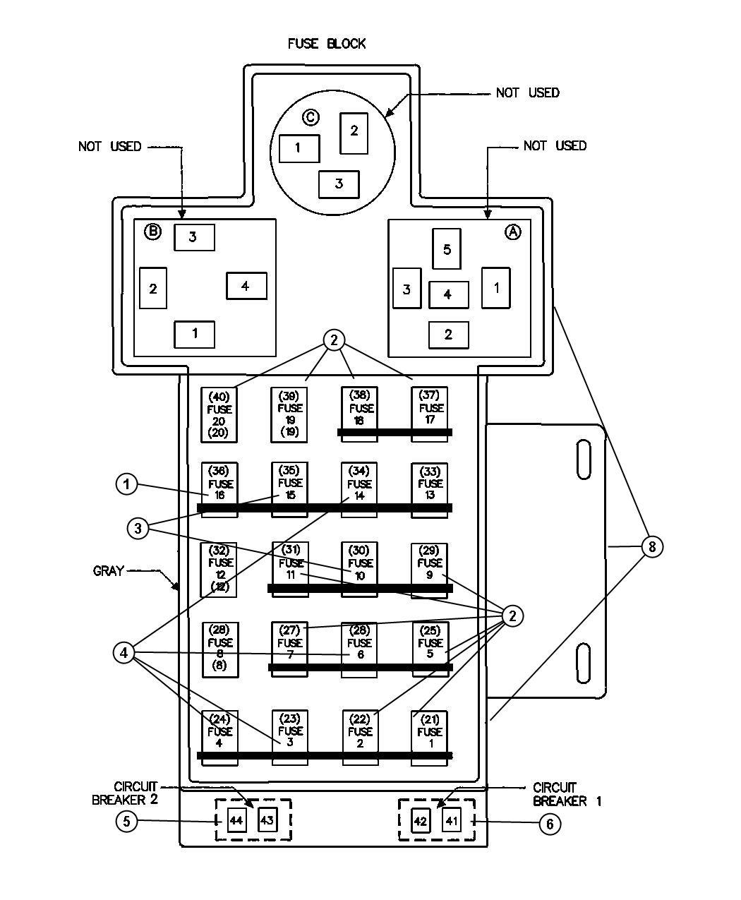 2007 chrysler pt cruiser breaker circuit ampere. Black Bedroom Furniture Sets. Home Design Ideas